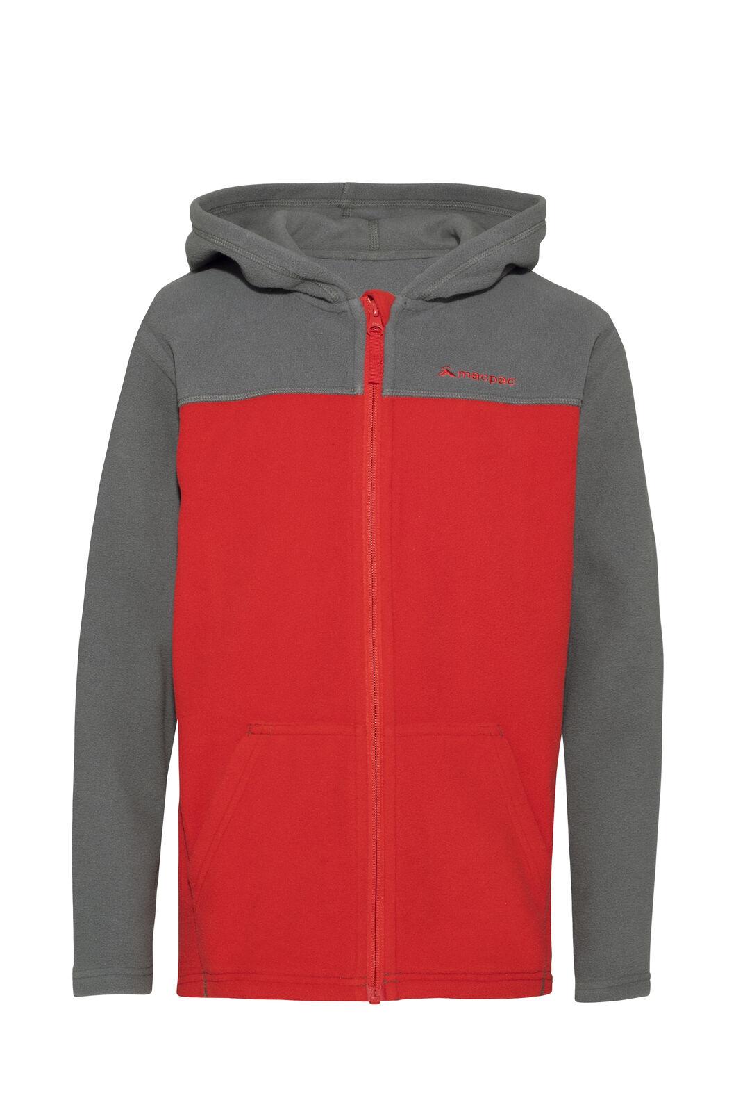 Macpac Tui Polartec® Fleece Jacket — Kids', Iron Gate, hi-res