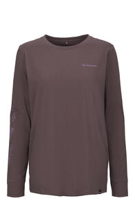 Macpac Botanist Fairtrade Organic Cotton Long Sleeve Tee — Women's, Peppercorn, hi-res