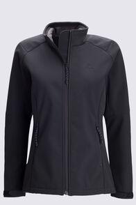 Macpac Women's Sabre Softshell Jacket, Black, hi-res