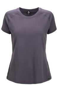 Macpac Ella Short Sleeve Merino Tee — Women's, Periscope, hi-res