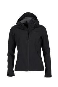 Macpac Sabre Hooded Softshell Jacket — Women's, Black, hi-res
