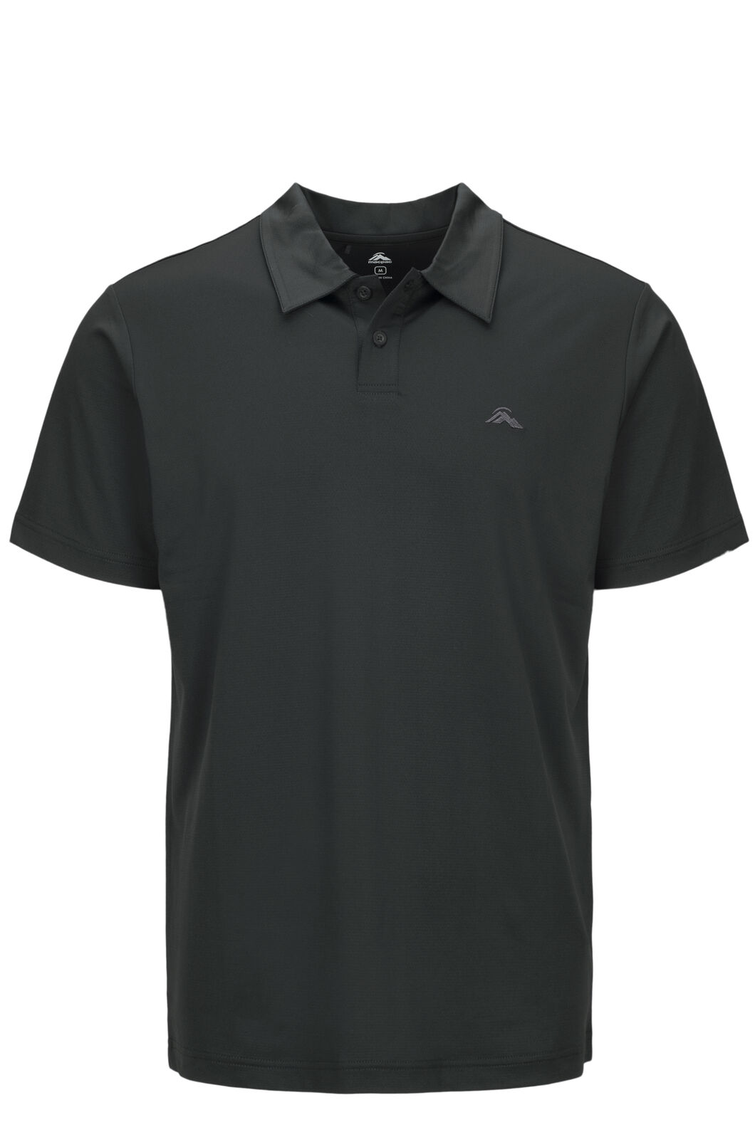 Macpac Eyre Short Sleeve Polo — Men's, True Black, hi-res