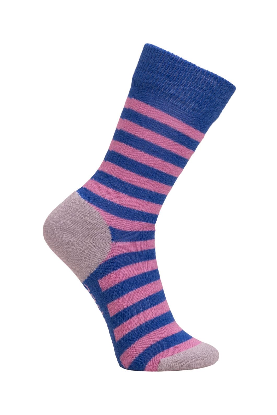 Macpac Footprint Socks Kids', Wedgewood Stripe, hi-res