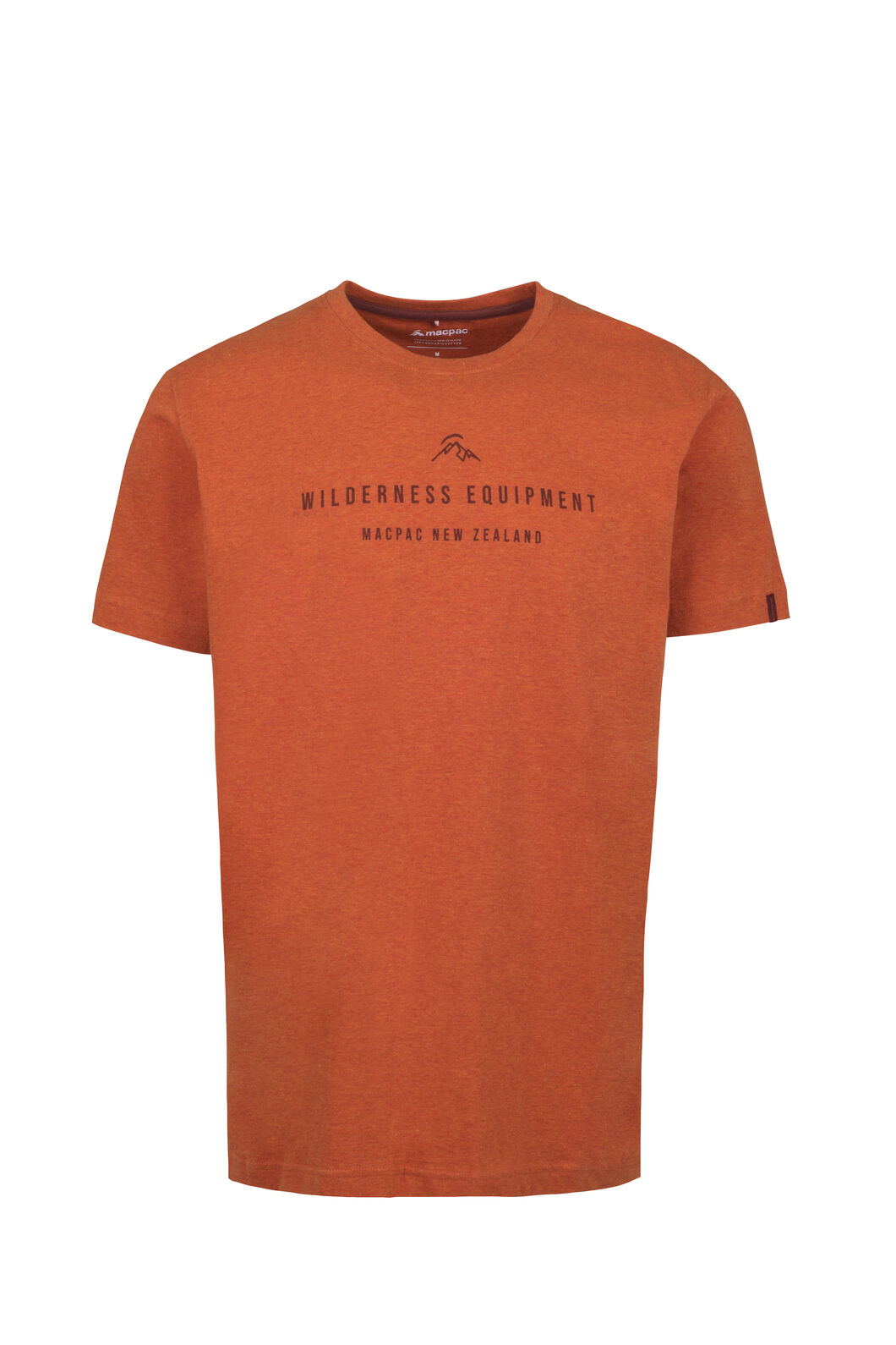 Macpac Brand Fairtrade Organic Cotton Tee — Men's, Burnt Orange Marle/Henna, hi-res