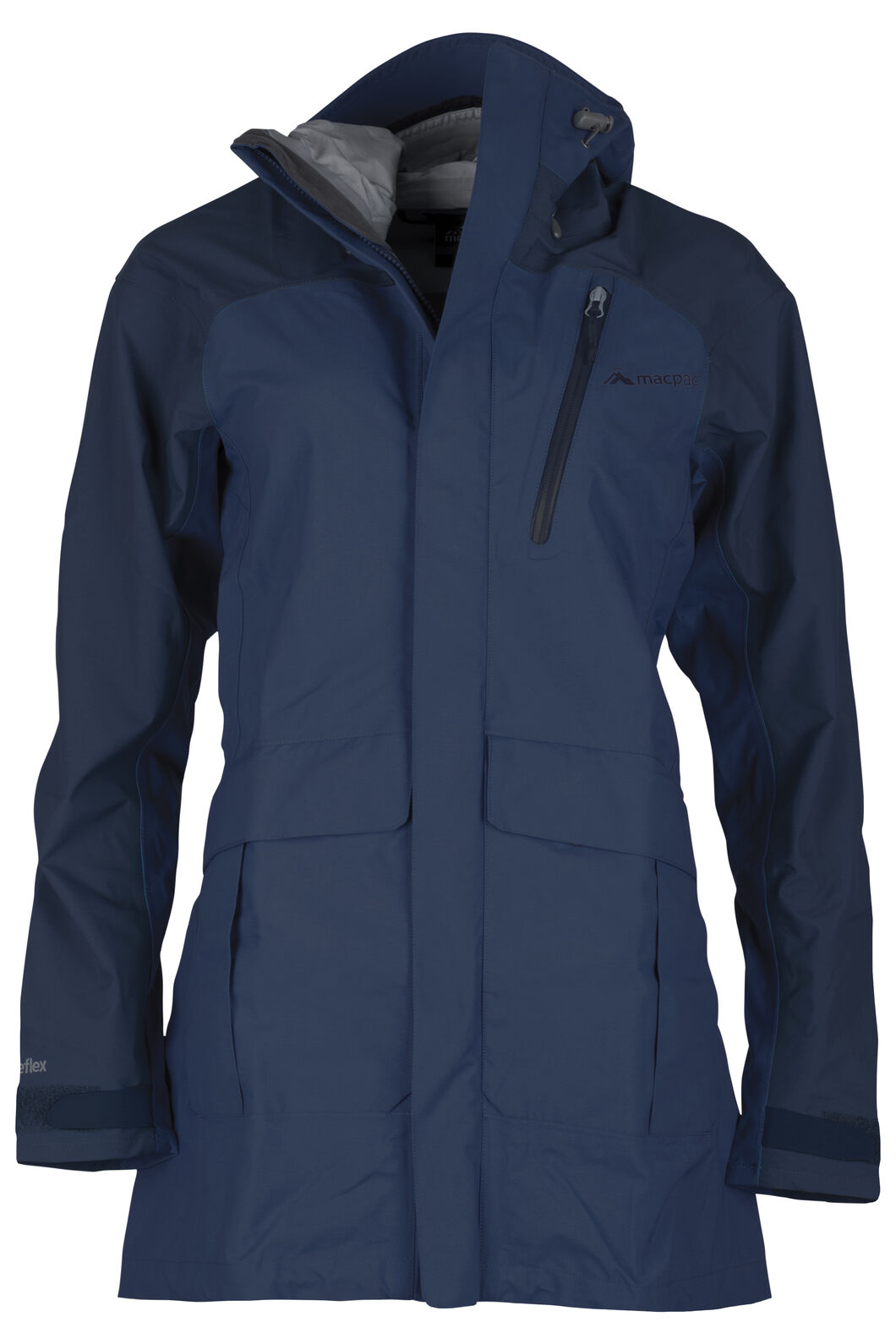 Copland Long Rain Jacket - Women's, Estate Blue/Black Iris, hi-res