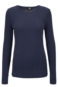 Macpac 220 Merino Long Sleeve Top — Women's, Black Iris, hi-res