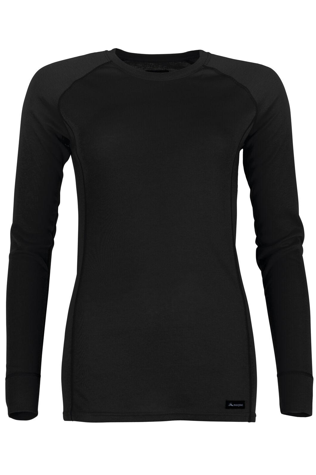 Geothermal Long Sleeve Top - Women's, Black, hi-res
