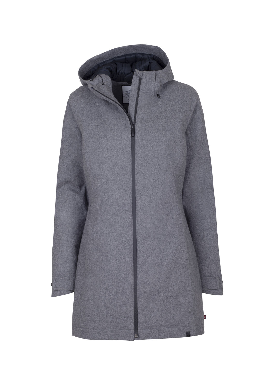Macpac Barometer PrimaLoft® Wool Coat - Women's, Light Grey Melange, hi-res