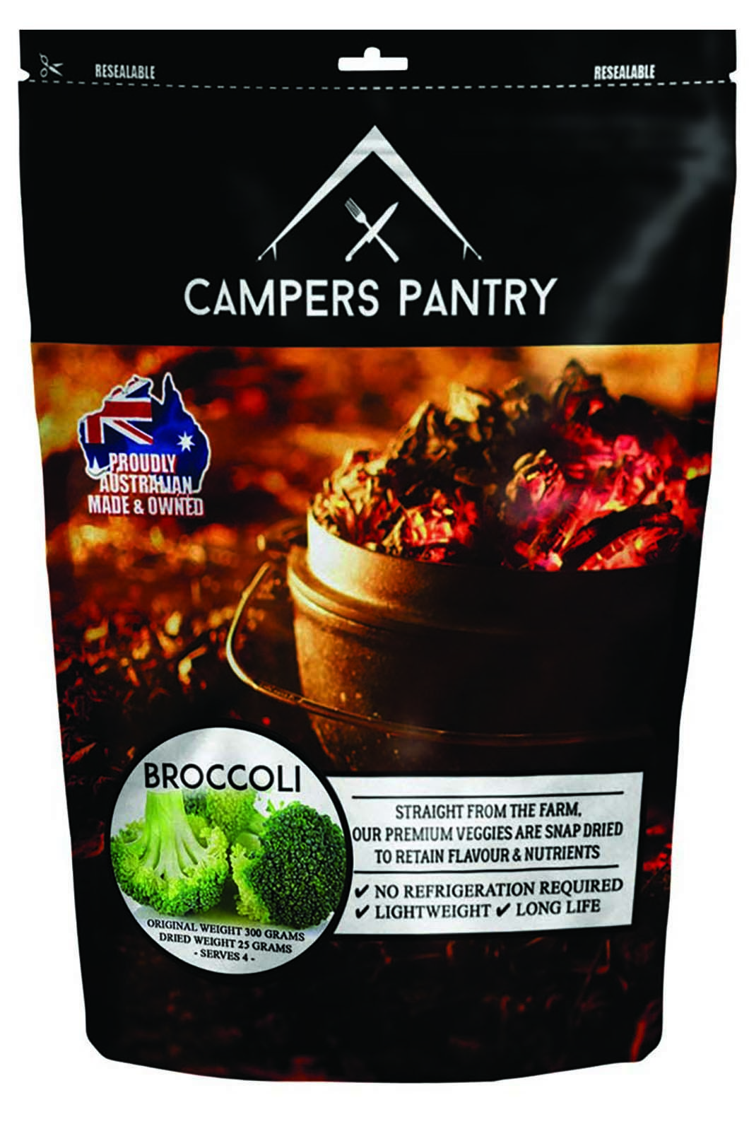 Campers Pantry 25g Dried Broccoli Freeze Dried Food (1 Serve), None, hi-res