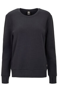 Macpac 280 Merino Long Sleeve Crew — Women's, Black, hi-res