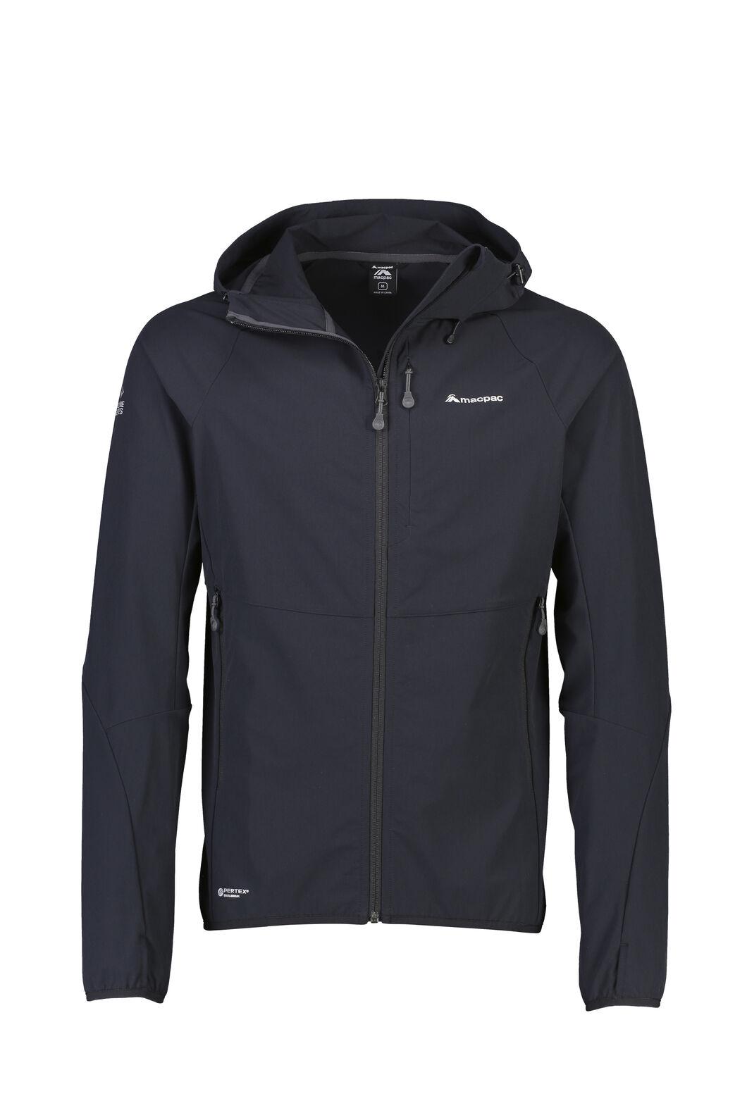 Macpac Mannering Pertex® Hooded Jacket — Men's, Black, hi-res