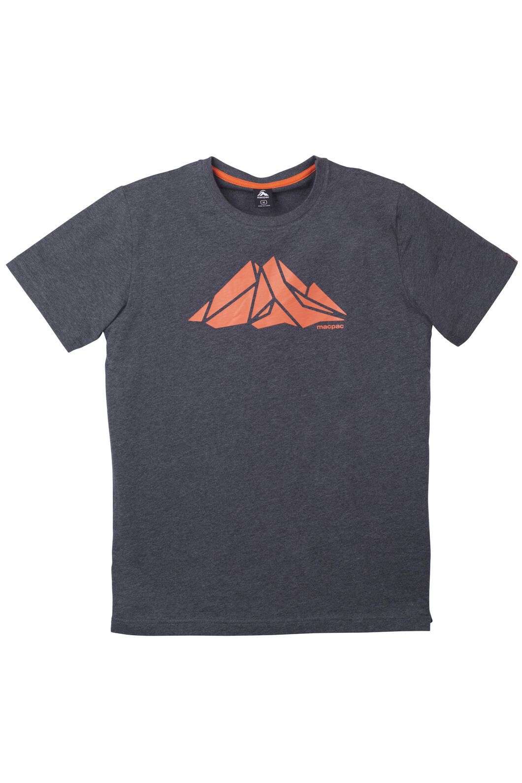Screen Print Organic Cotton Tee - Men's, Charcoal Marle, hi-res