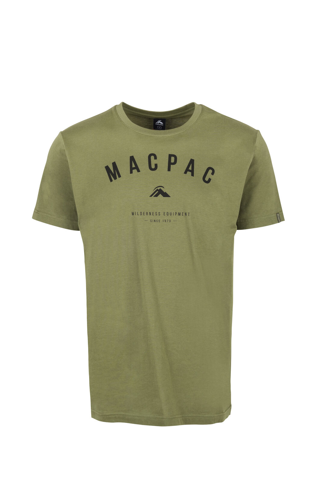 Macpac Graphic Organic Tee — Men's, Loden Green, hi-res