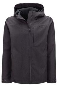 Macpac Men's Chord Softshell Hooded Jacket, Black, hi-res