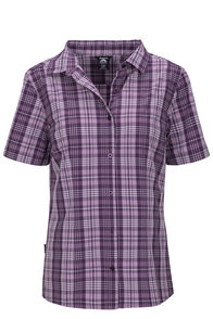 Macpac Eclipse Short Sleeve Shirt — Women's, Blackberry Wine, hi-res