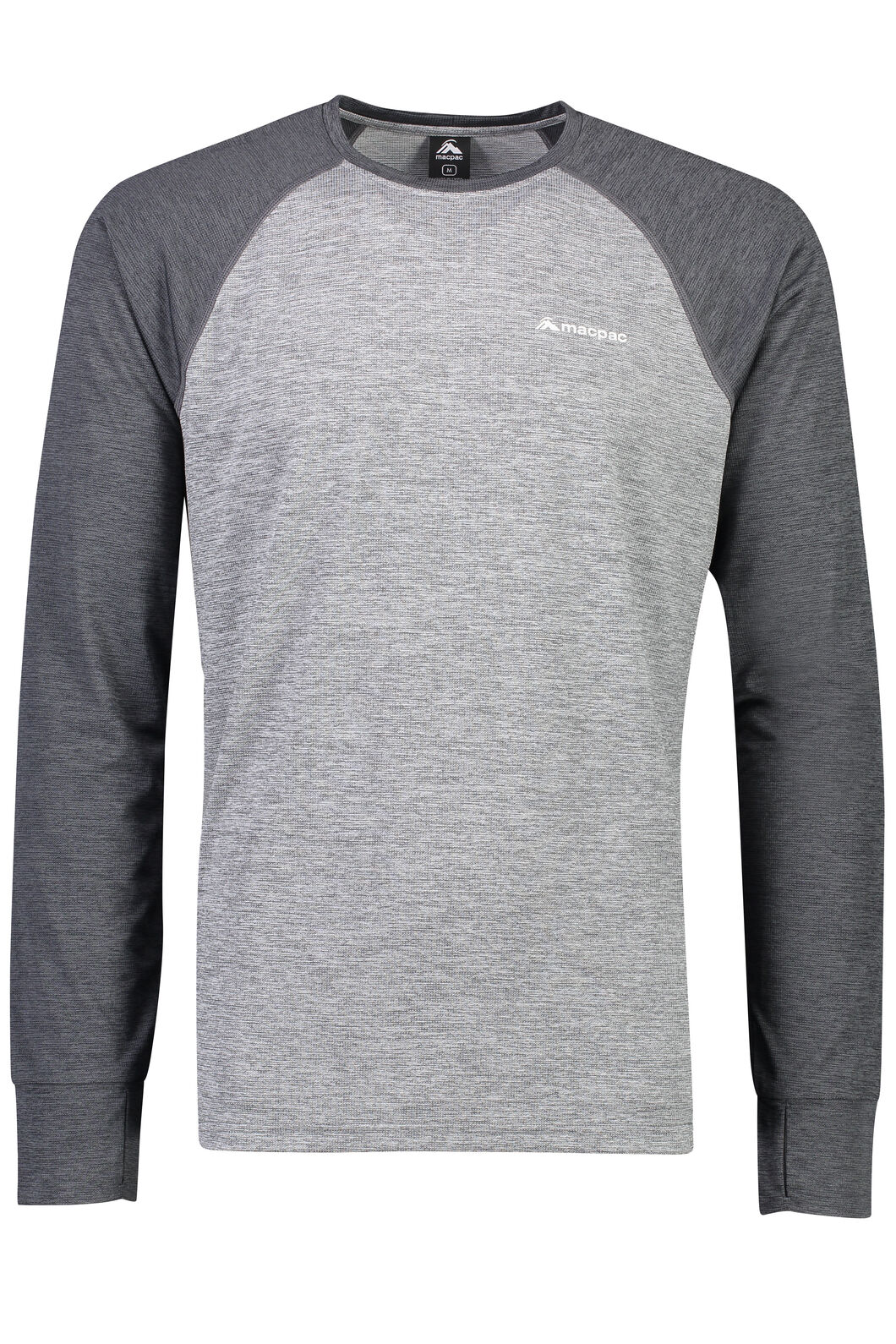 Macpac Take a Hike Long Sleeve Top - Men's, Monument, hi-res
