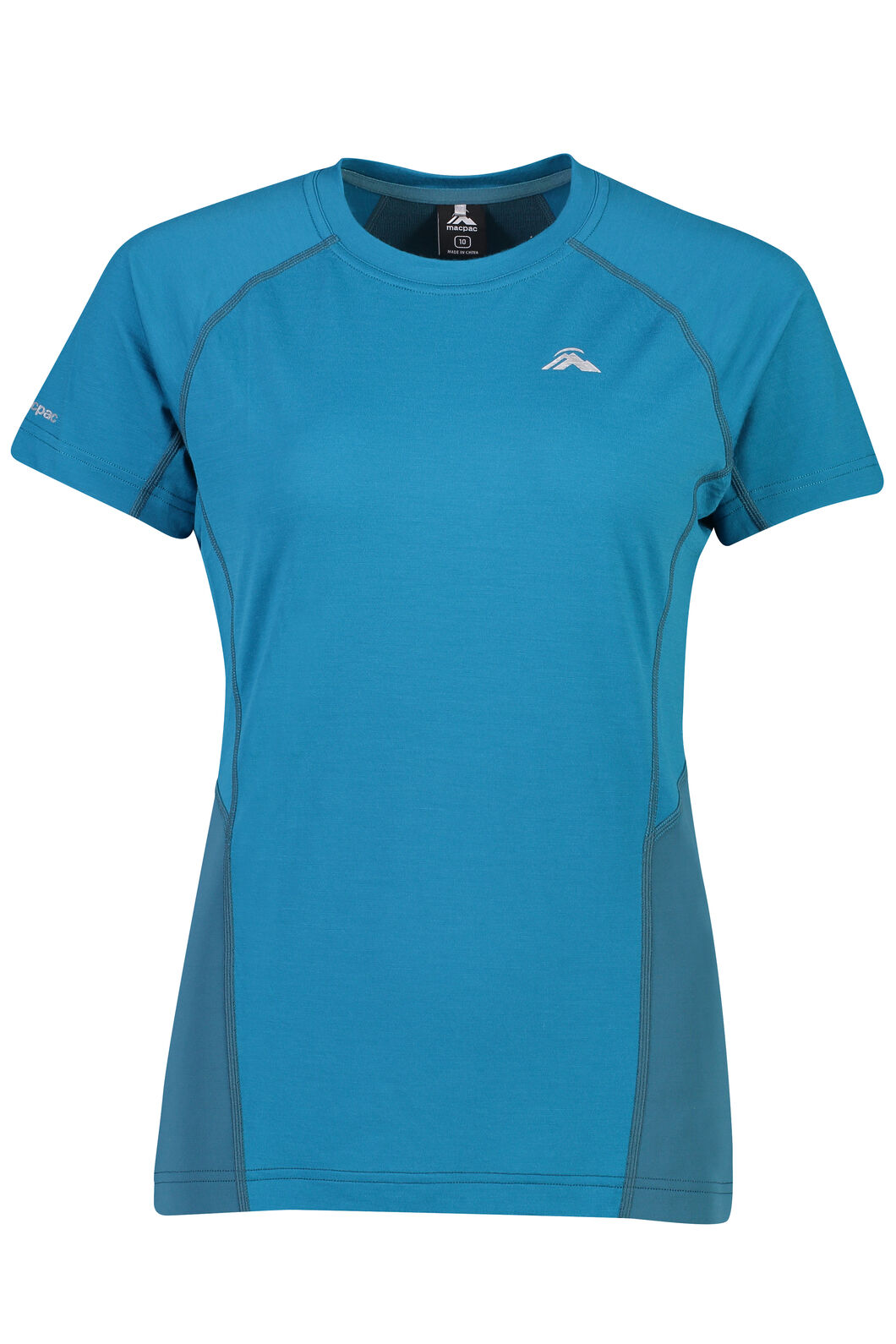 Macpac Casswell Short Sleeve Crew - Women's, Ocean Depths, hi-res