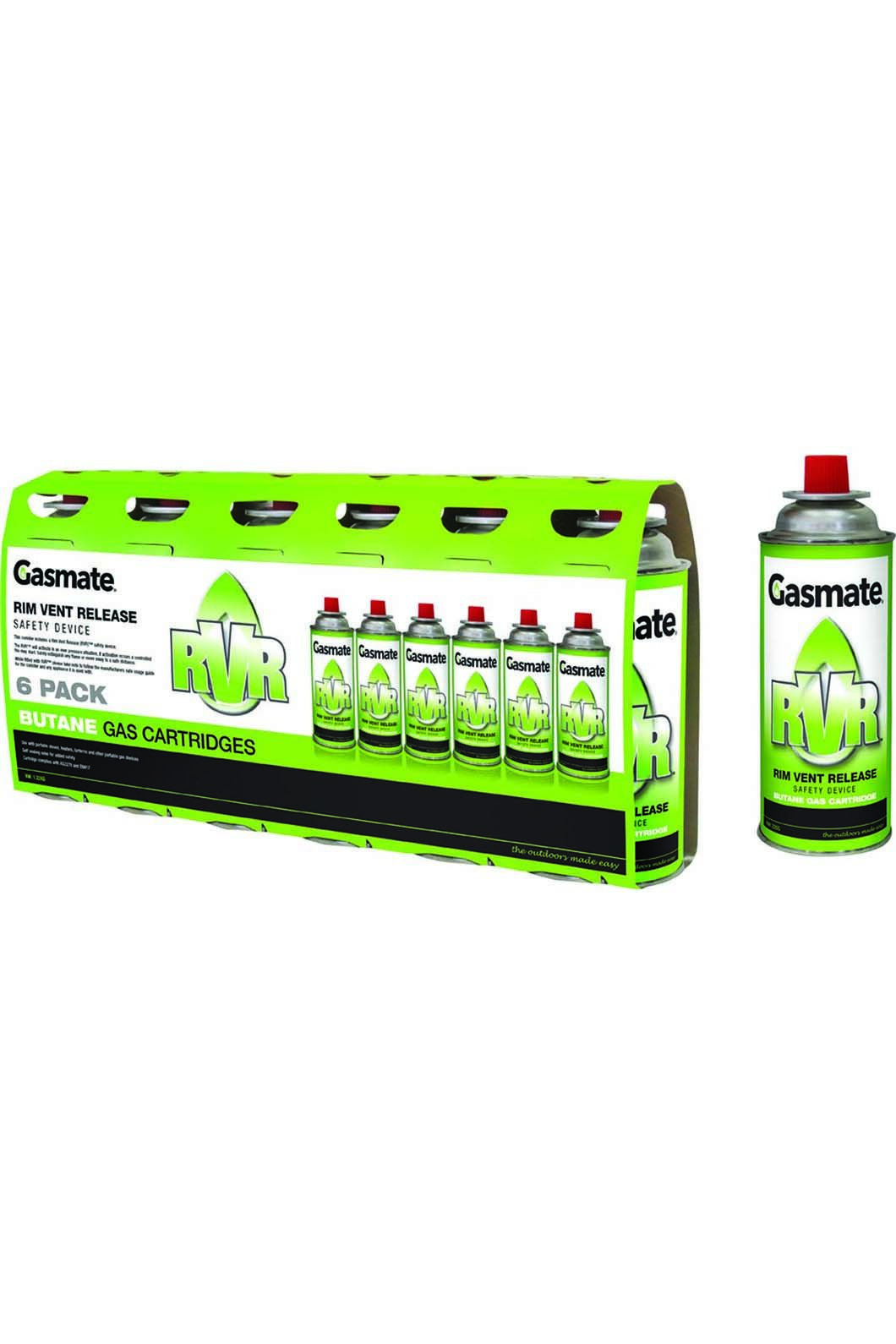 Gasmate Butane Gas Canisters RVS (6 Pack), None, hi-res