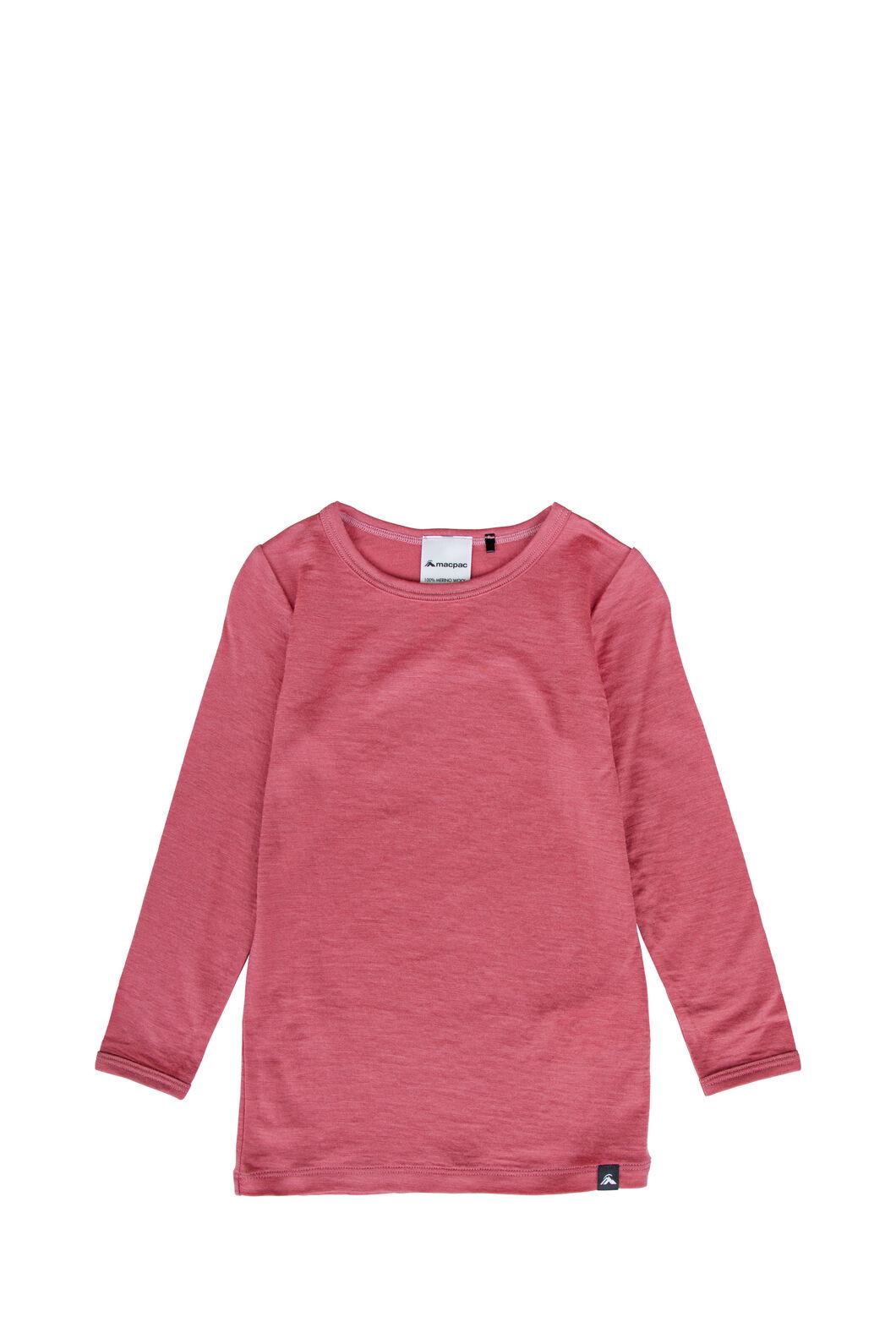 Macpac 150 Merino Long Sleeve Top — Baby, Slate Rose, hi-res