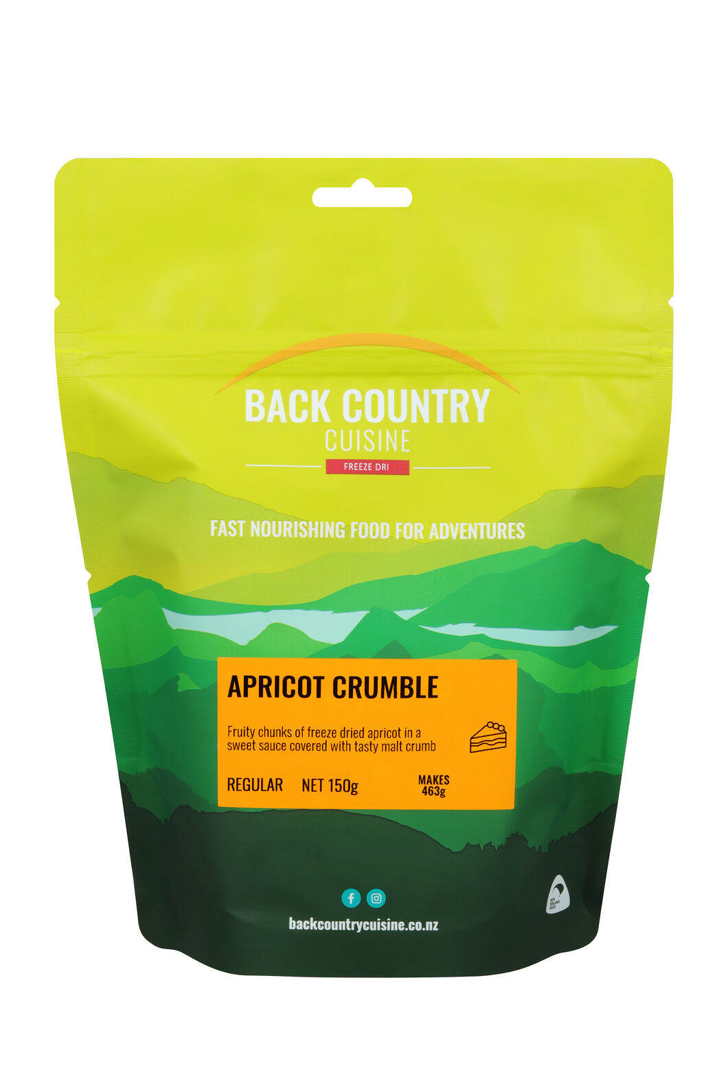 Back Country Apricot Crumble — Regular Serve, None, hi-res
