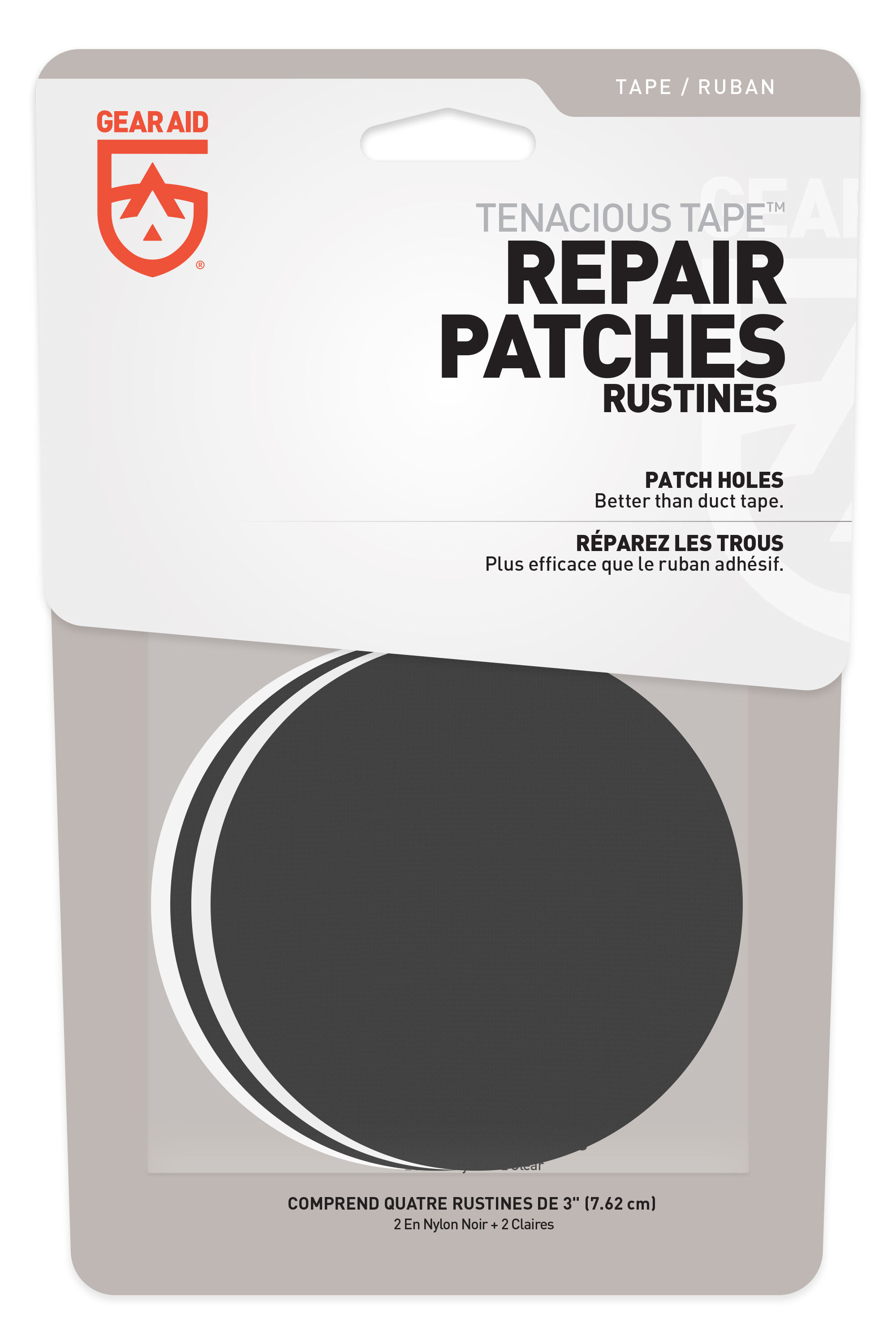 6 Pieces Down Jacket Repair Patch Nylon Repairing Patches for Tent Air Mat