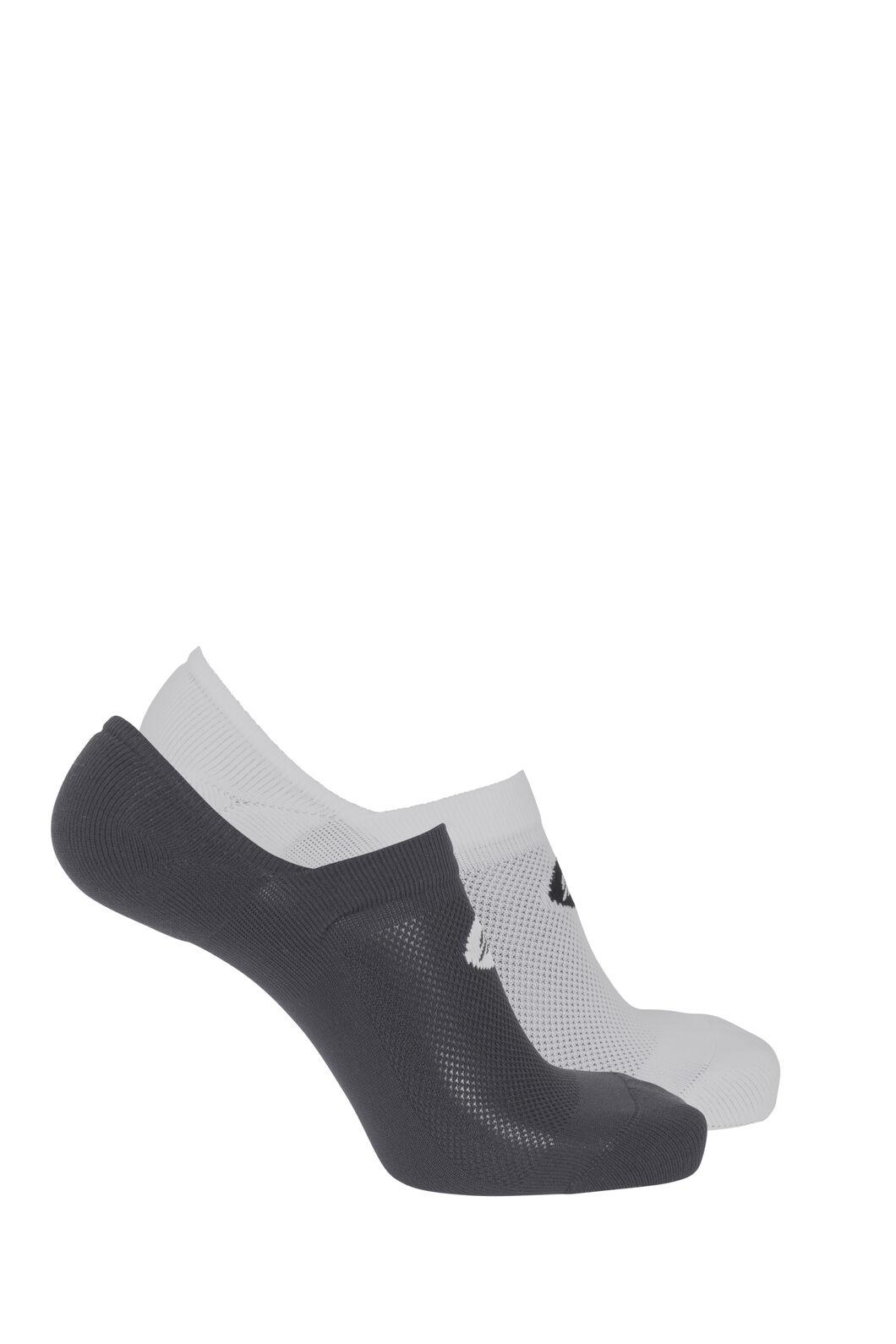 Macpac Invisible Socks (2 Pack), Black/White, hi-res