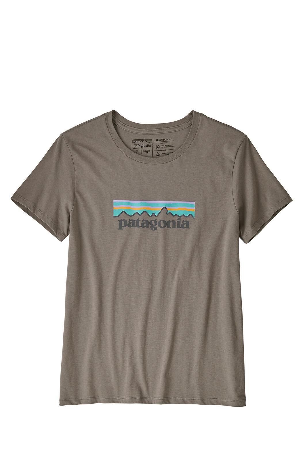 Patagonia Women's Pastel P-6 Logo Tee Gravel, Greyheather, hi-res