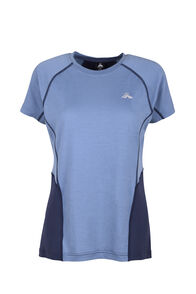 Macpac Casswell Short Sleeve Crew - Women's, China Blue/Mood Indigo, hi-res