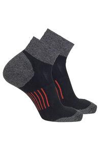 Macpac Trail Quarter Sock — 2 Pack, Black/Pureed Pumpkin, hi-res