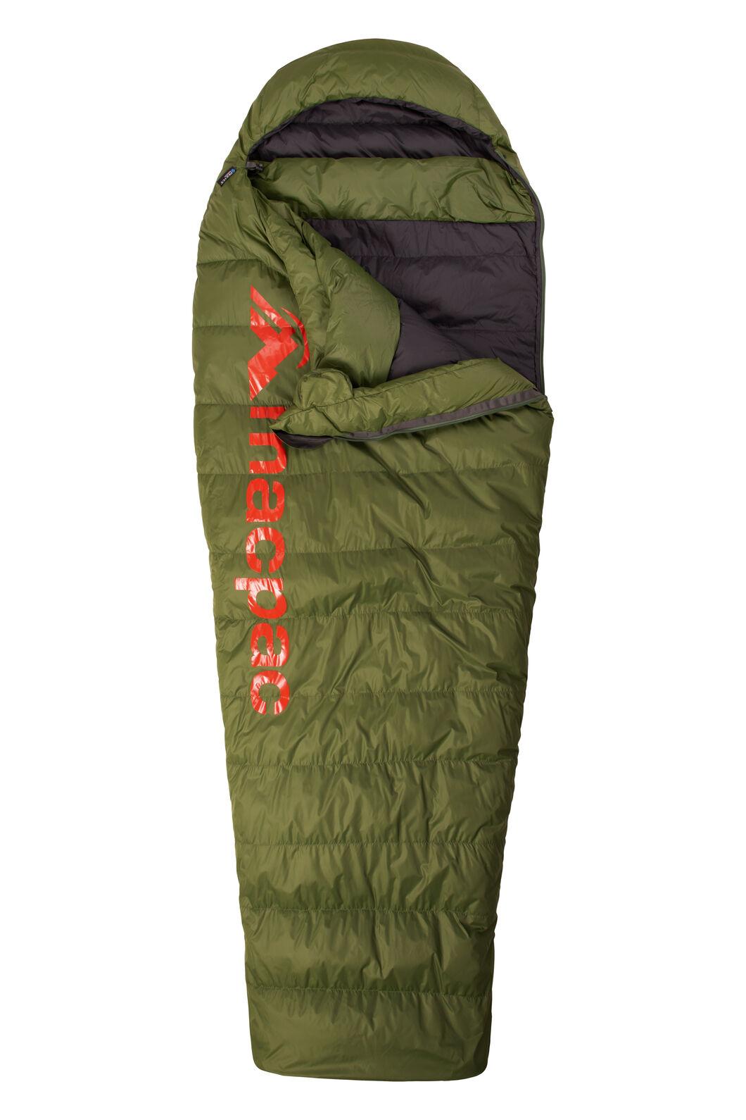 Macpac Overland 400 Standard Down Sleeping Bag, Chive, hi-res