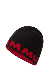 Mammut Logo Beanie, Black, hi-res