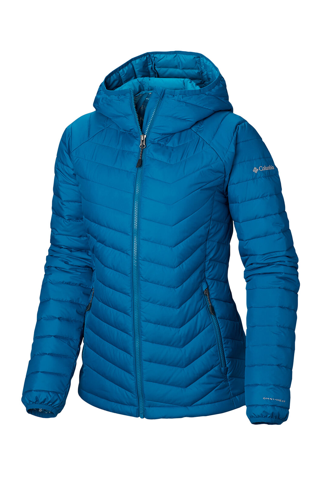 Columbia Powder Lite Hooded Jacket - Women's, Siberia, hi-res