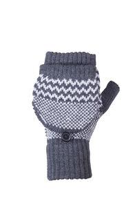 Macpac Merino Flip Top Mittens, Charcoal, hi-res