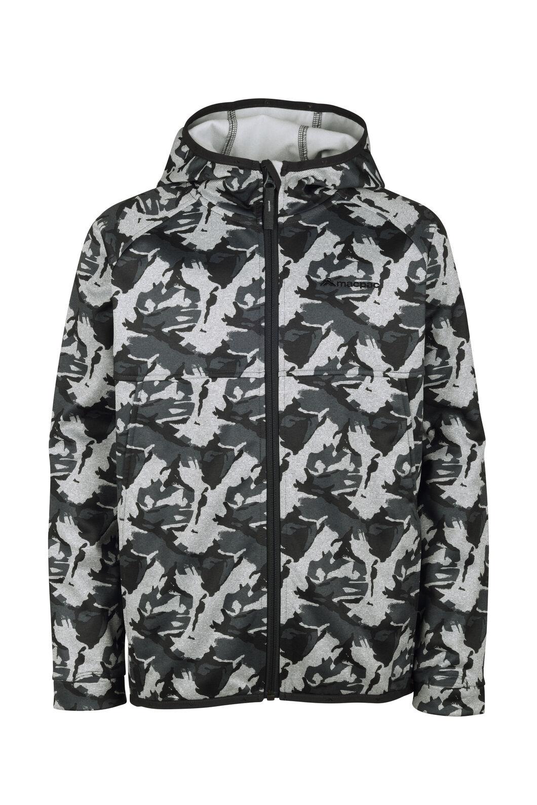 Macpac Kiwi Fleece Jacket - Kids', Grey Camo, hi-res