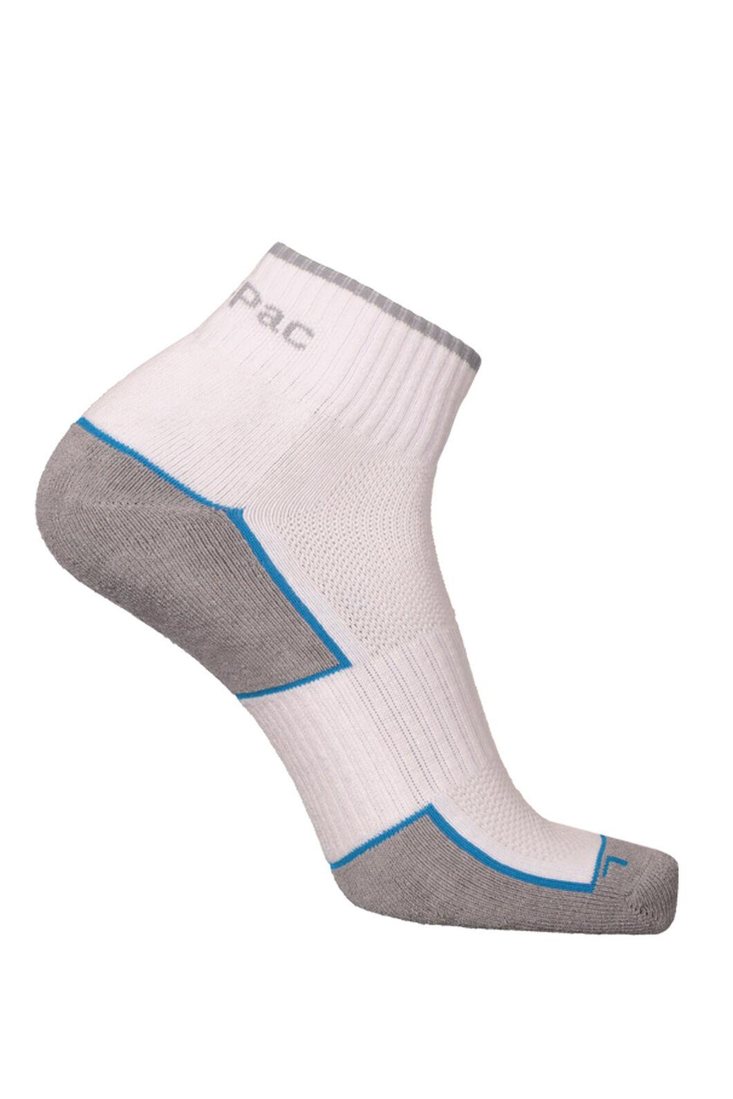 Macpac Cross Trainer Socks (2 Pack), White, hi-res