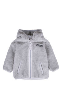 Macpac Acorn Fleece Jacket — Baby, High Rise/Nimbus Cloud, hi-res