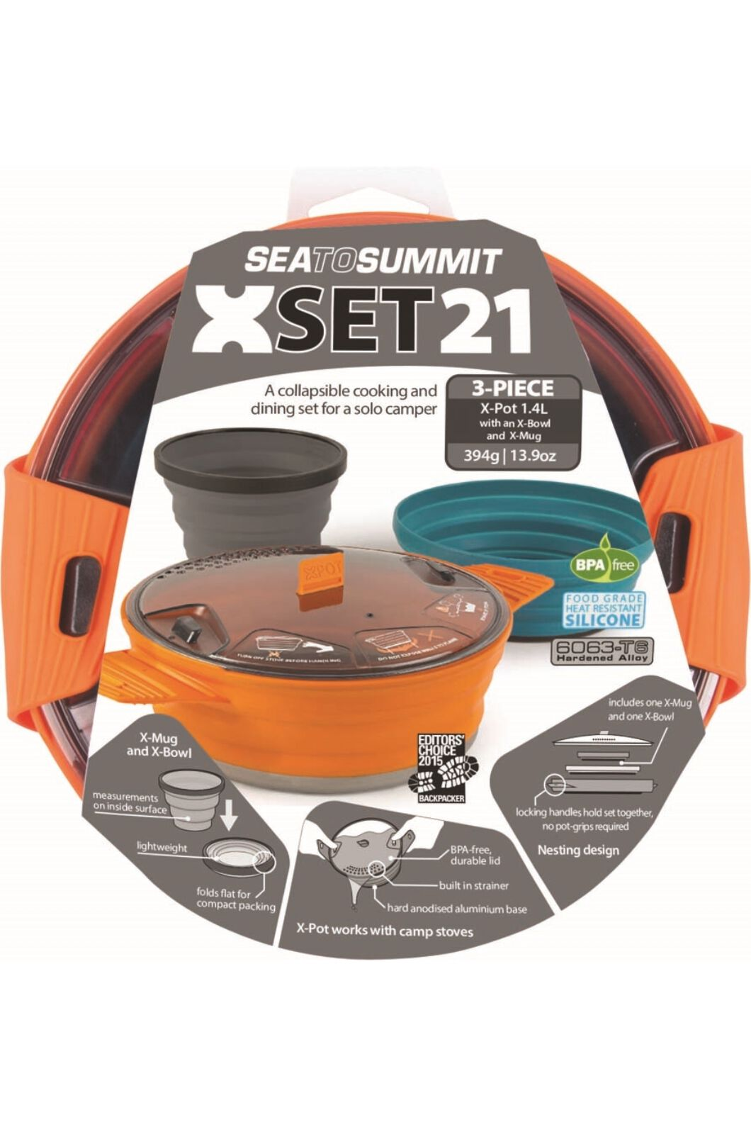 Sea to Summit 3 Piece X-Set 21 Cooking Set, None, hi-res