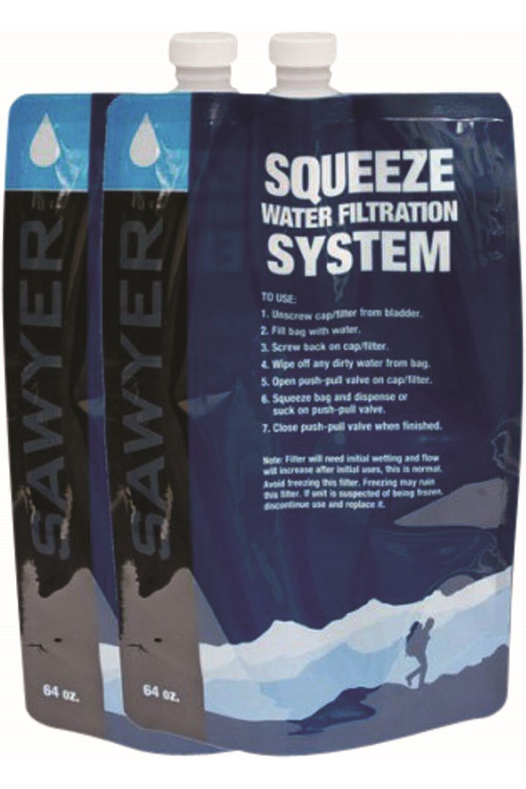 Sawyer 2 Pack 2L Squeezable Pouch, None, hi-res