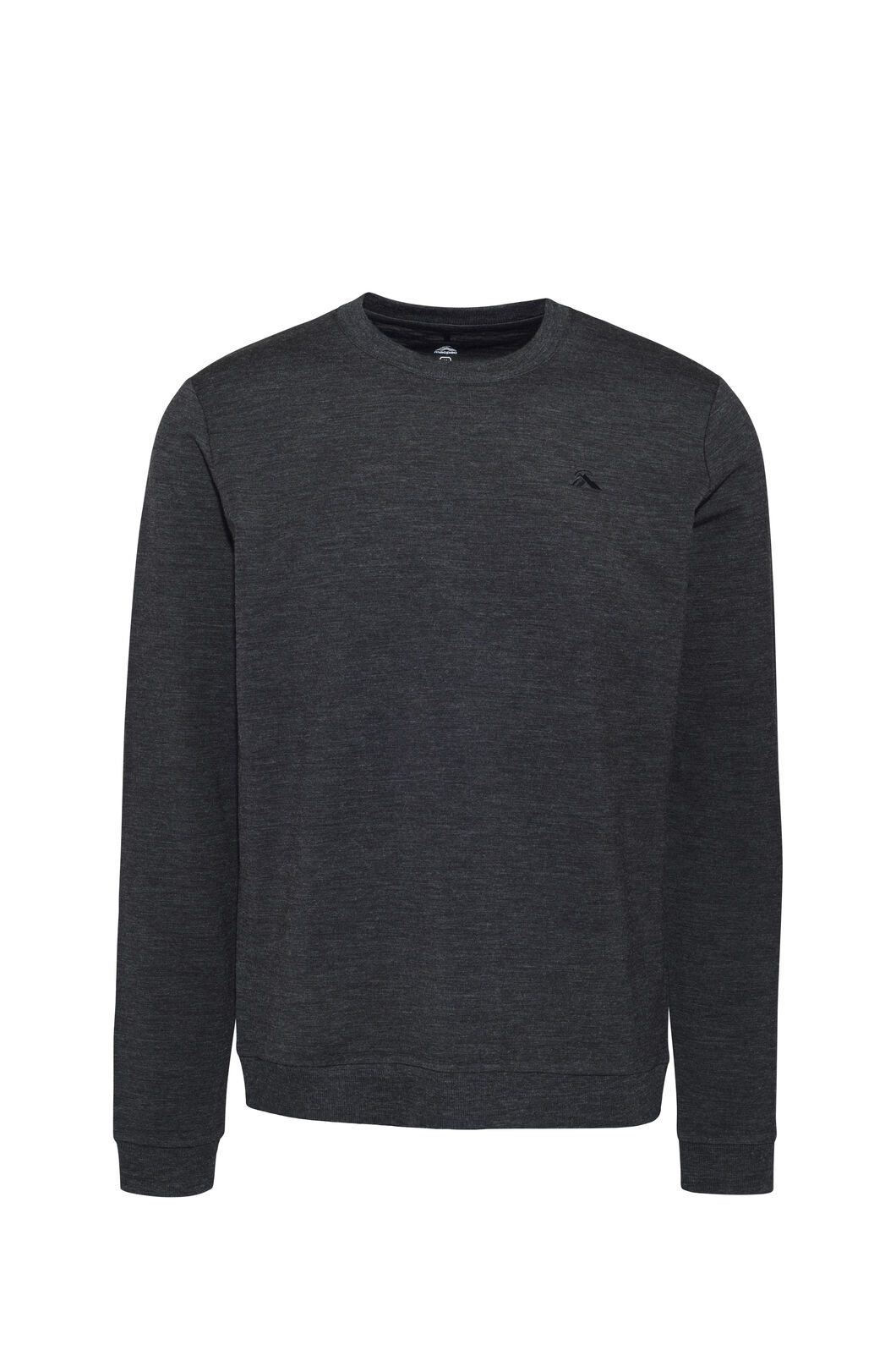 Macpac 280 Merino Long Sleeve Crew — Men's, Charcoal Marle, hi-res