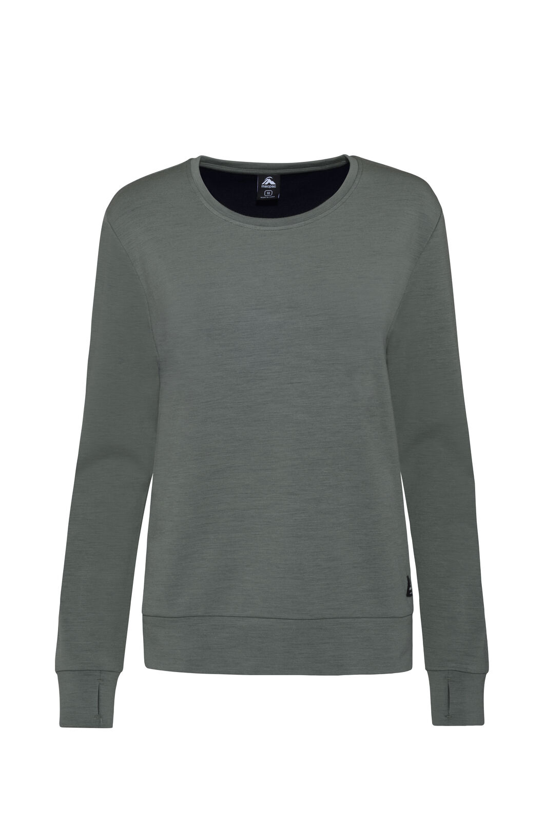 Macpac Merino 280 Long Sleeve Crew — Women's, Sea Spray, hi-res