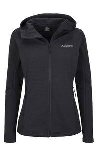 Macpac Ion Polartec® Fleece Hooded Jacket — Women's, Black, hi-res