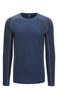 Macpac 150 Merino Long Sleeve Top — Men's, Orion Blue/Dried Tussock, hi-res