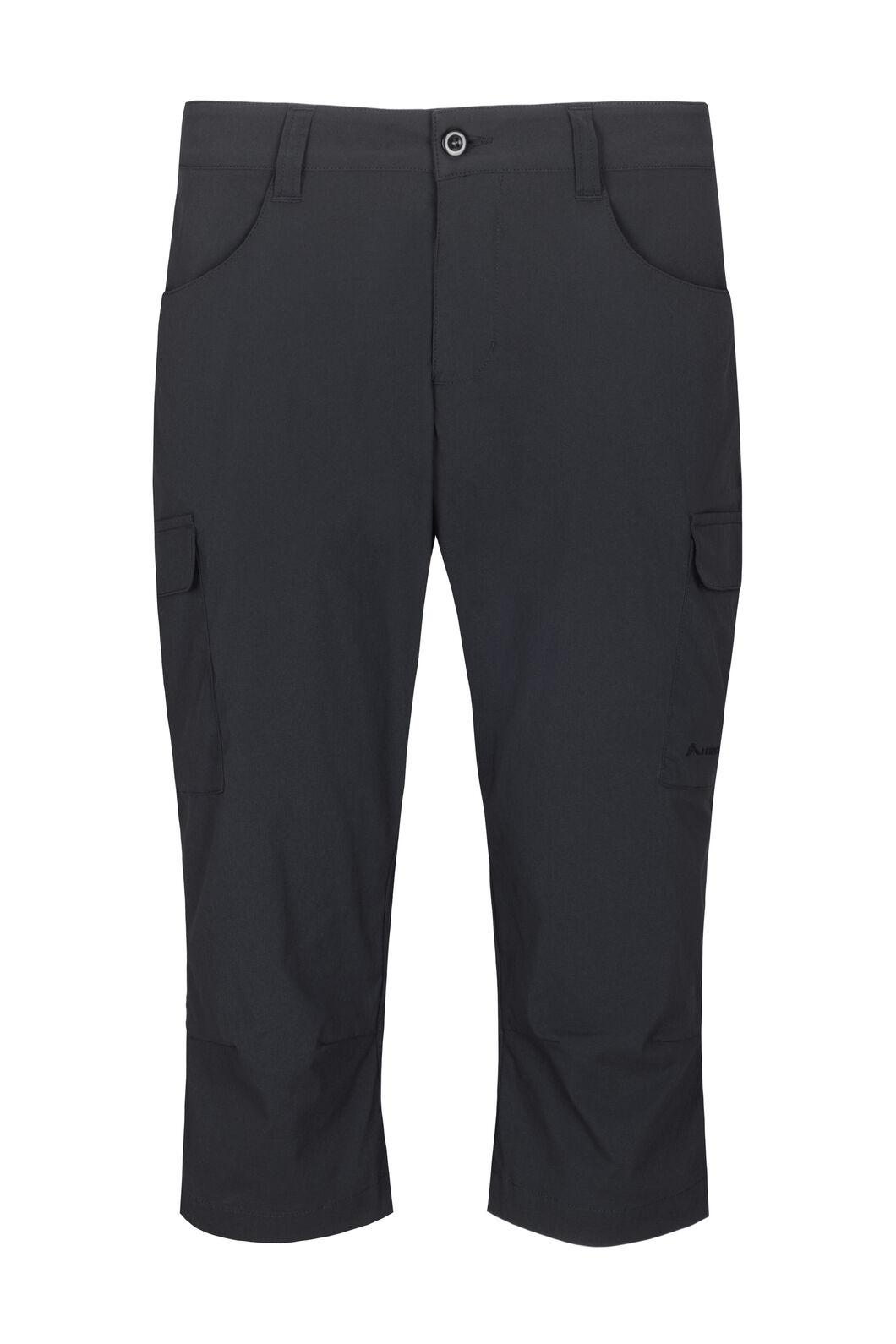 Macpac Women's Drift ¾ Pants, Black, hi-res