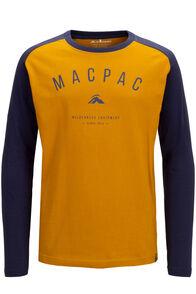 Macpac Kids' Graphic Long Sleeve Tee, Blue Nights/Arrowwood, hi-res