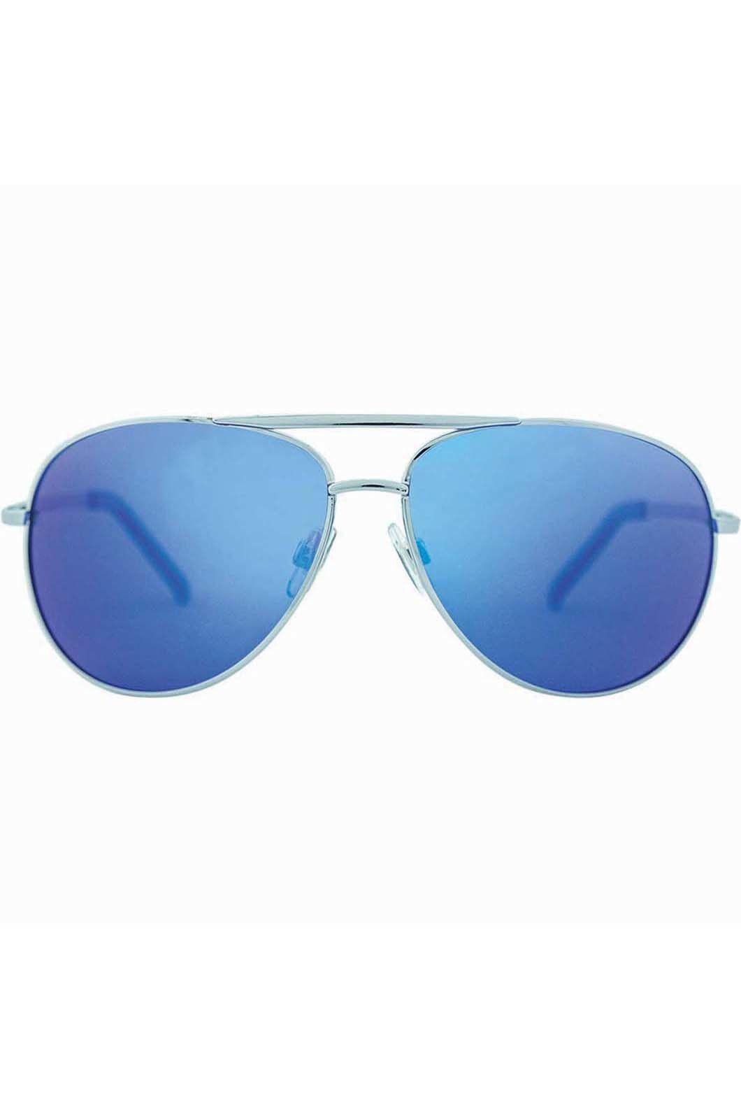 Venture Eyewear Women's Viper Sunglasses, Silver/Blue, hi-res