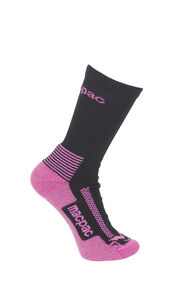 Macpac Kids' Trekking Socks, Black/Pink, hi-res