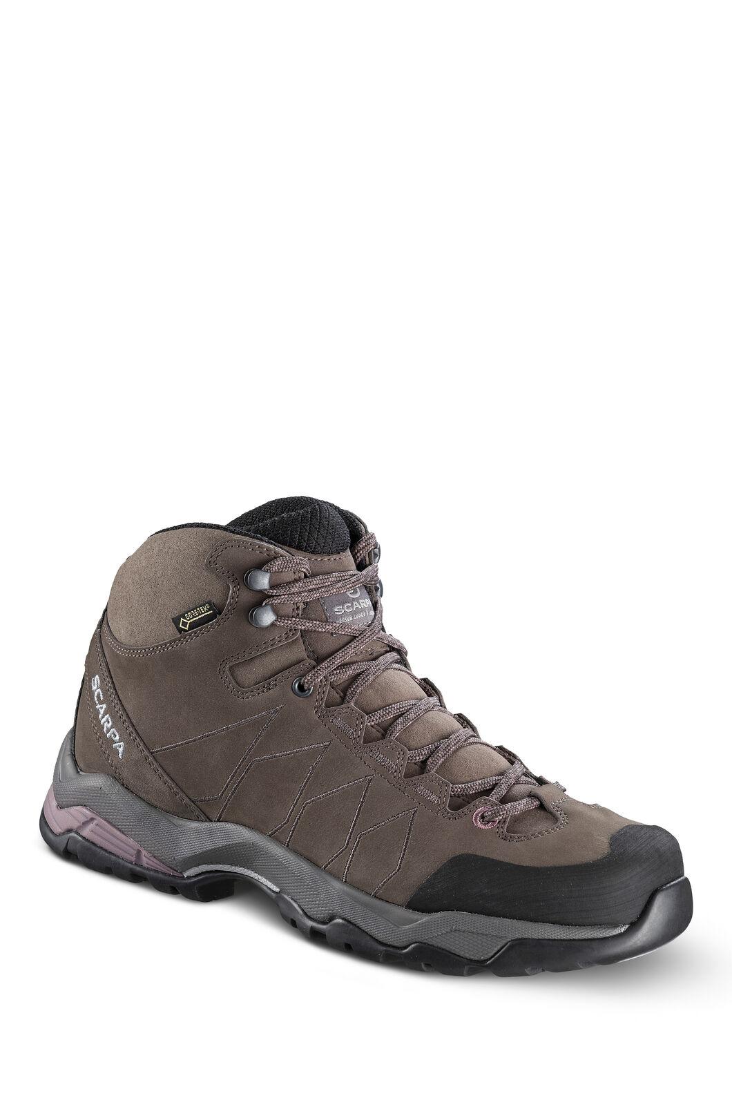 Scarpa Women's Moraine Plus GTX Hiking Boots, Charcoal/Dark Plum, hi-res