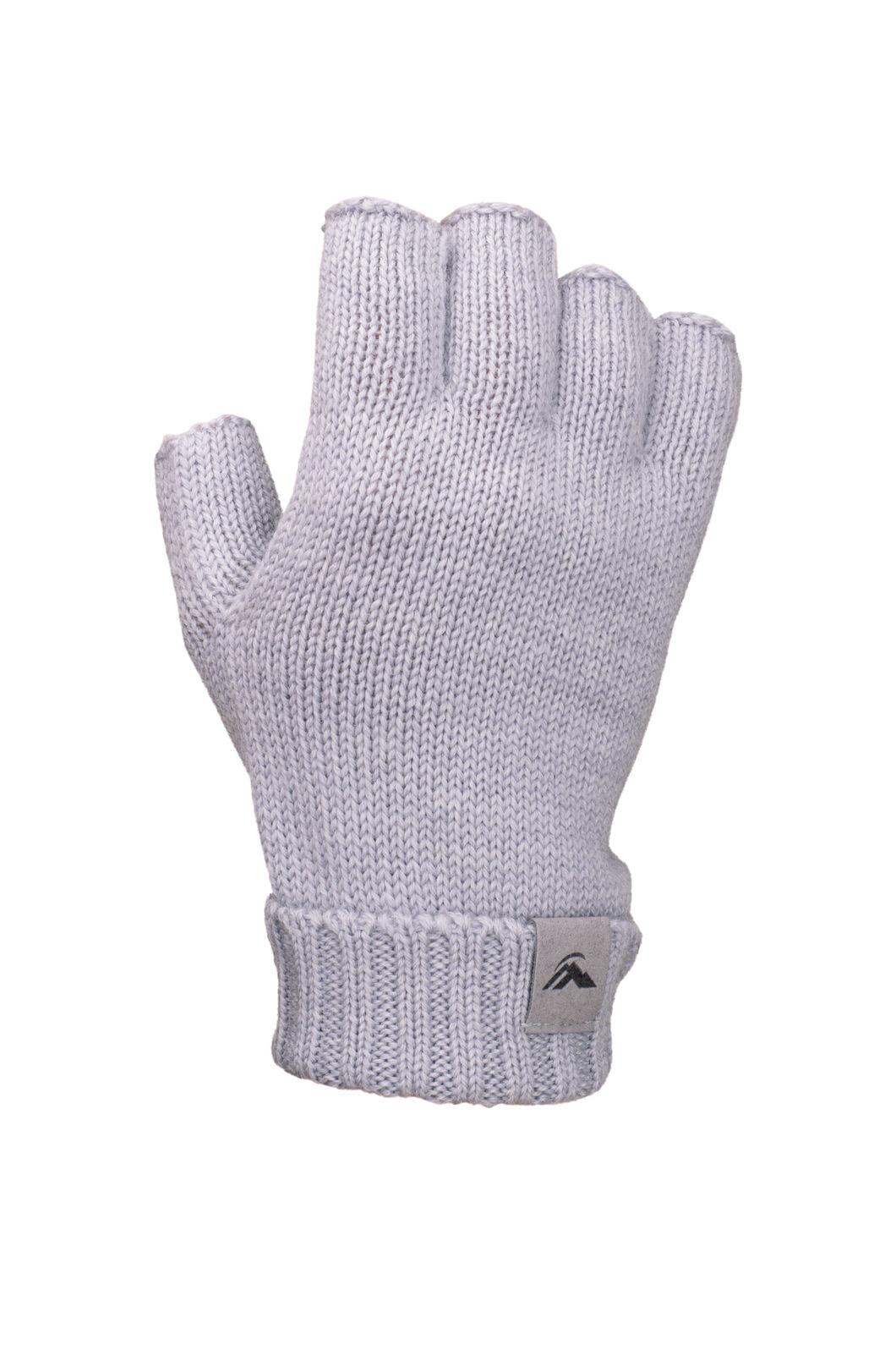 Macpac Merino Fingerless Gloves, LIGHT GREY, hi-res