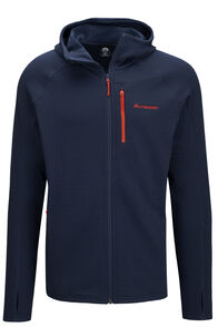 Macpac Ion Polartec® Fleece Hooded Jacket — Men's, Black Iris/Grenadine, hi-res