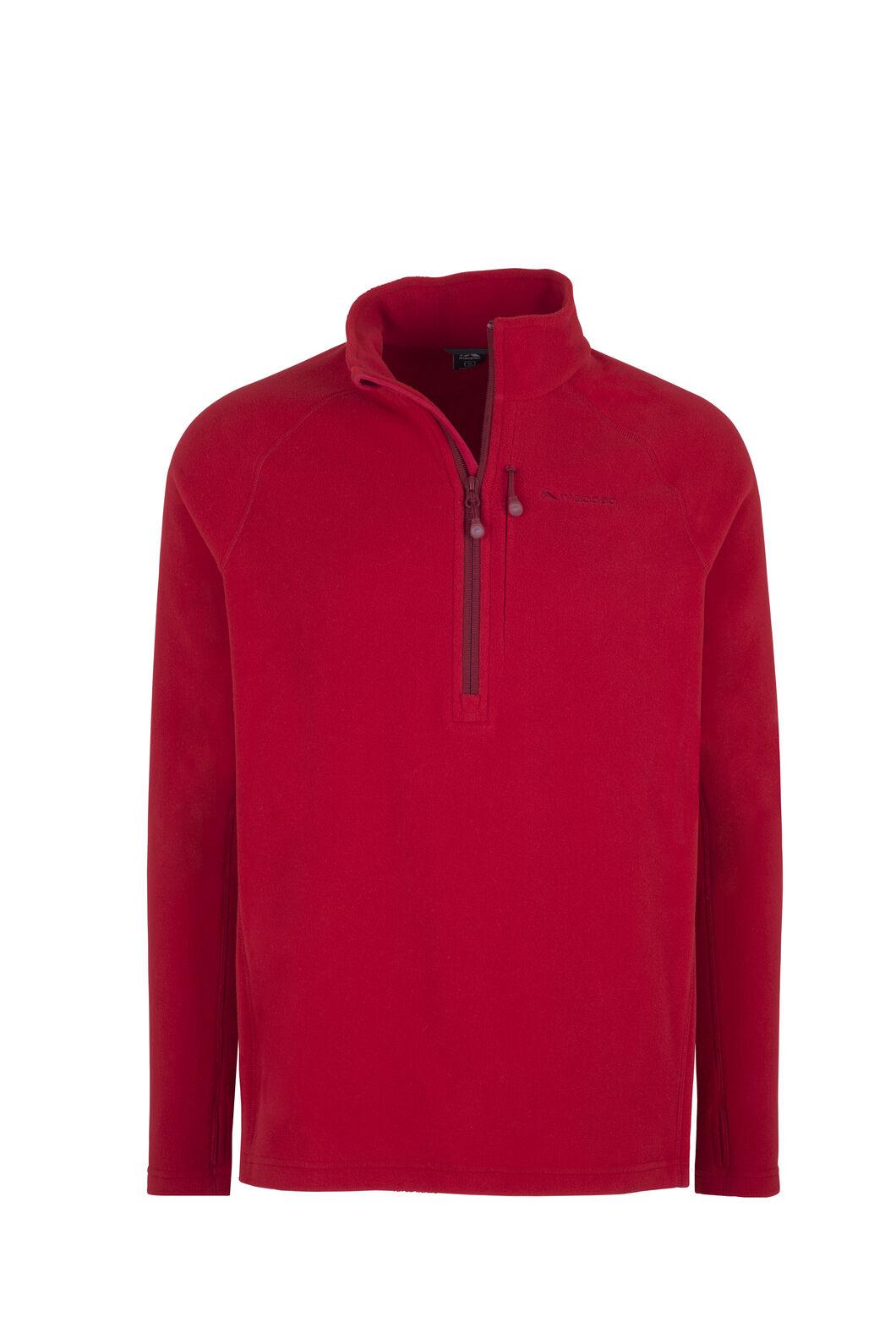 Macpac Tui Polartec® Micro Fleece® Pullover — Men's, Haute Red, hi-res